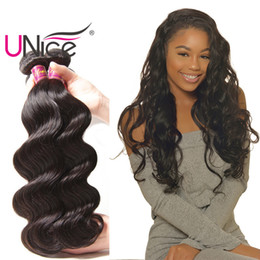UNice Hair Peruvian Body Wave 3 Bundles Virgin Human Hair Weave 8-30inch Human Hair Extensions Unprocessed Wholesale Weaves Cheap Bulk