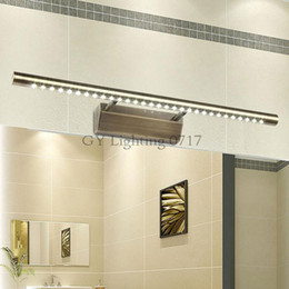 Novelty lighting Vintage Bronze Modern SMD 5050 LED front mirror light bathroom cabinet dressing table kitchen lamps luminaria