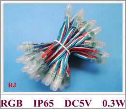LED module light RGB exposed light string channel letter LED pixel light module DC5V 0.3W RGB IP66 12mm CE