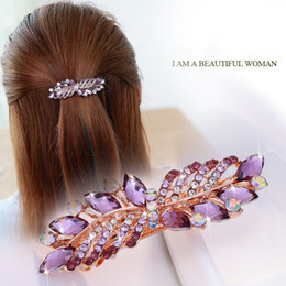Japanese and Korean top clip small spring clip Rhinestone Hairpin Acrylic Pearl Ponytail Transverse clamp Small headdress