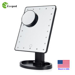 Zoopod Make Up LED Mirror 360 Degree Rotation Touch Screen Make Up Cosmetic Folding Portable Compact Pocket With 16 22 LED Makeup Mirror