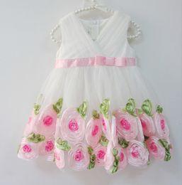 1 piece Kids Clothes baby Girls' party Dress Infant Princess Rose autumn summer Tutu wedding dresses baby girls dresses one piece clothing