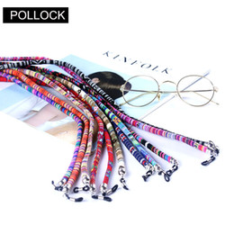 Retro South American style Adjustable silicone loops Eyeglasses Sunglasses reading glass cords chains Holder Lanyard neck Strap