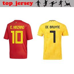Belgium Soccer jersey 2018 LUKAKU home away DE BRUYNE FELLAINI E.HAZARD KOMPANY Belgium football shirt men World Cup soccer jersey