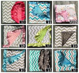 Fedex UPS Free Ship infant baby chevron minky blanket knitting,shower gift baby cotton blanket minky dot, mink baby super soft blanket