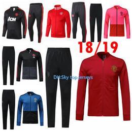 5ea3064915 pantalones Rebajas 2018 19 Chándal del Manchester United Survetement VESTE  SET POGBA kit de JACKET
