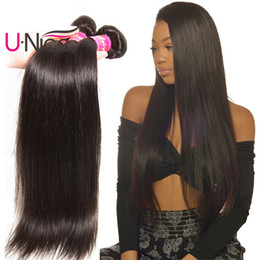 UNice Hair Malaysian Straight Hair 4 Bundles Remy Human Hair Extensions Malaysian Straight Virgin Weave Bundles Wholesale Cheap Bulk