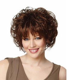 Natural Hair Wig Wig Short Hair Big Curly Hairpieces Short Curls Synthetic Hair Replacement Wigs Afro Kinky Wigs for Women