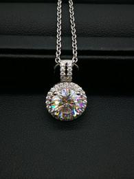 Fashion Sun Flower 9K,14K,18k Gold Group Setting 3Ct Moissanite D F VVS Clarity Lab Diamond Test Positive Certified Diamond Pendant Necklace