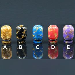 510 Epoxy Resin Drip tips Mouthpiece 510 Resin Drip Tip for 510 Thread Atomizers TFV8 RDA RTA DHL Free