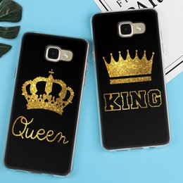 King Queen Case For Samsung Galaxy S5 S6 S7 Edge S8 Plus A3 A5 J1 J2 J3 J5 J7 2018 high quality free shipping Back cover Note 8 Luxury