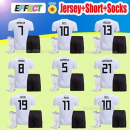 2018 Germany World Cup Soccer jerseys Draxler Kimmich MULLER OZIL Adult Kits KROOS HUMMELS WERNER GOTZE Football Shirts Full Set With Sock