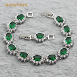 Wholesale Silver Color Women Bracelets With Colors AAA Zircon Crystal Link Chain For Women Wedding And Anniversary Length 18-20cm Customizab