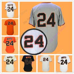 Willie Mays Jersey Cooperstown Cool Base Flexbase Vintage Men Women San Francisco Baseball Jerseys Grey Orange Cream Black