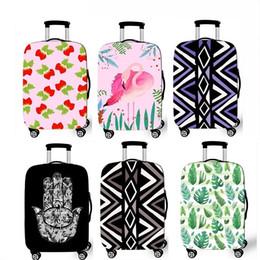 China Factory Sale 2018 Custom Personalised Populor Purple Flower Spandex Waterproof Suitcase Covers Elastic Dustproof Luggage Protector