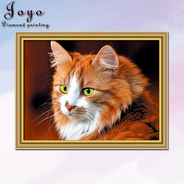 Joyo, DIY cross-stitch diamond painting, wise kittens, good-looking eyes, home decor, perfect design, beautiful gifts