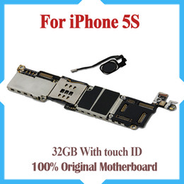 100% Original Unlocked,32GB 5s Mainboard with Touch ID,for iphone 5s Motherboard with Fingerprint Identification,Free Shipping