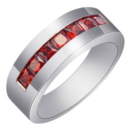 Luxury Pomegranate Red Cubic Rings Multicolor Retro Engagement Ring Jewelry For Women Size6 7 8 9