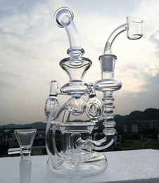 Bong! glass water pipes bongs percolator glass recycler with 4mm quartz banger oil rigs heady dab rig 14.4mm joint