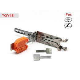 Auto Smart TOY48 2 in 1 auto pick and decoder for Lexus Toyota, locksmith tool free shipping