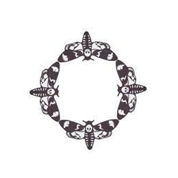 Suitable for all kinds of costumes, black and white dragonfly moon Halloween witchcraft repair iron embroidery, custom-made shoulder badges