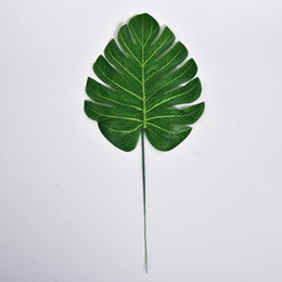 30pcs small monstera deliciosa artificial leaf silk flower fabric leaves home decoration floriculture