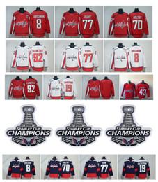 Washington Capitals Jersey Alex Ovechkin TJ Oshie Evgeny Kuznetsov Braden Holtby Backstrom Hockey With 2018 Stanley Cup Champion Patch