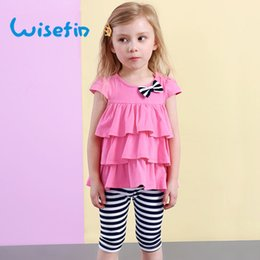 Wisefin Baby Girl Clothes Cotton Summer Set 2018 Kids Girls Fashion Layers Children Set Summer T-Shirt+Pants 2 Pcs Girl Clothes