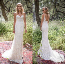 Sexy Classical Backless Wedding Dress 2019 Mermaid Spaghetti Straps Vintage Lace Country Garden Bridal Gowns Cheap Custom Made