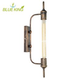 American loft steam pipe Retro Industrial Light Innovative Restaurants balcony Corridor Stage Art iron Wall Lamp E27 black or brown color