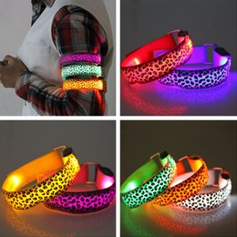 LED Lighted Toys Leopard LED Flash Arm Riding Flash Reflective Belt Skating Fashion Strap Factory Direct