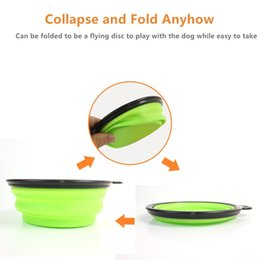 Collapsible 2-pack Dog Travel Bowl Foldable Expandable Cup Dish for Pet Cat Food Water Feeding Portable Travel Bowl Orange Blue Black