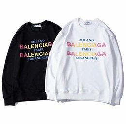 2018 new men women sweater letters printing couple autumn winter sweater hooded