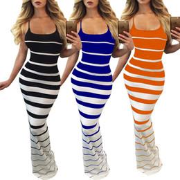 Sexy Striped Dress Women Sleeveless Spaghetti Strap Bodycon Slim Casual Dresses Club Party Long Dress Backless Classic Sundress Hot Sale