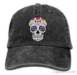pzx@ Baseball Cap for Men Women, Sugar Skull Mens Cotton Adjustable Jeans Cap Hat Multi-color optional
