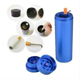 d daily necessities lighter Tobacco Grinder Dugout Pipe Case Storage Room Case Smoking Pipe all-in-one Dugout Grinder Stash