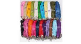 """Fashion 100pcs lot 22Colors you choose Organza Voile Ribbon Necklaces Pendants Chains 3+1 18"""" 44cm Jewelry DIY"""