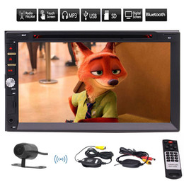 EinCar Double Din Car stereo car DVD CD Player bluetooth Car Radio Audio 7'' High Definition Touch Screen TF USB AUX Rearview Camera