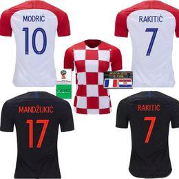 2018 World Cup MODRIC MANDZUKIC RAKITIC CroATiaS Home Soccer Jerseys 1998 retro SUKER PERISIC KALINIC KOVACIC Football Shirts 2018