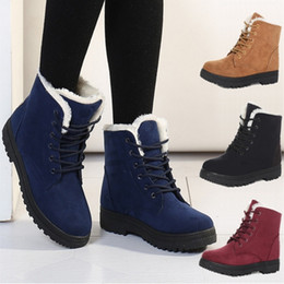 Brand New Women winter snow boots 100% cotton thick crust Martin boots lace street classic warm cotton boots free shipping