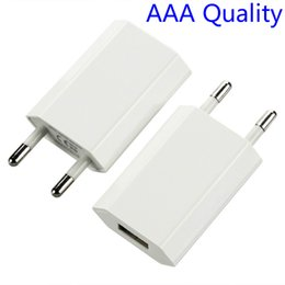 100pcs lot AAA Quality EU Wall Charger USB Plug 5V 1A AC White Micro USB Power Adapter For Iphone X 8 7 5 6 Xiaomi Samsung HTC LG charger