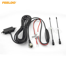 FEELDO Car F Connector Plug Digital Auto TV Antenna with Built-in Booster Amplifier Car Antenna #909