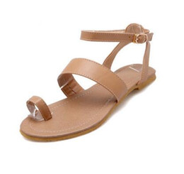 2018 New fashion summer sandals lace up women shoes flat women sandals flip flops large size 34-39