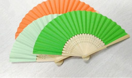 paper fans wedding colorful gifts bamboo fans party souvenirs bamboo handheld fans 010