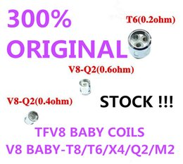 200%Authentic TFV8 BABY Beast Tank Coils Head V8 Baby-T8 T6 X4 M2 0.15 0.25ohm Q2 0.4 0.6ohm Core