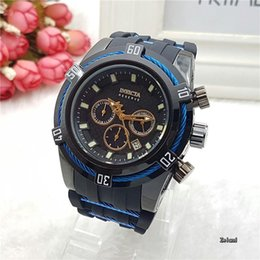 Luminous   Outdoor Sport Quartz Men's Watch INVICTA Small Pointer All Available Working High Quality Steel Dial Silicone Bracelet GA500
