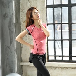 Korean version of the summer new short-sleeved Yoga clothes two sets of outdoor sports comfortable quick-drying stretch fitness yoga clothes