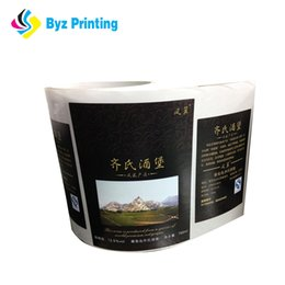 Eco-friendly custom glossy paper adhesive label for honey jar glass bottle with CMYK printing