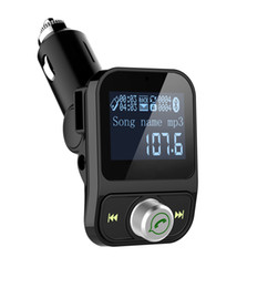 FM Transmitter, Wireless Bluetooth FM Transmitter Car Kit Radio Receiver W 1.44 Inch Display 2.1A USB Car Charger MP3 Player Read Mic