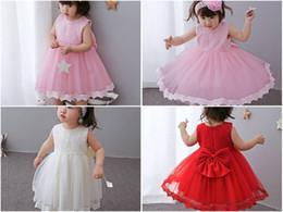 Retail Christmas Baby Girls Big Bow Lace Princess christening dresses Kids Birthday Gift month baptism Wedding dress halloween costumes